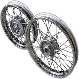 Royal enfield new alloy wheels and silencer