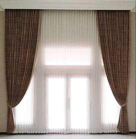 Jual dan Pasang Gorden Wallpaper Rumah Kantor Apartemen Hordeng Vitras