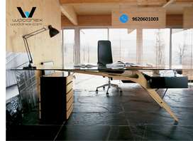 New Modular Design Office Table Pine Wood Furniture and Warranty