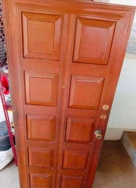 Teak wood panel main door