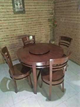 Kursi makan minimalis bulat meja
