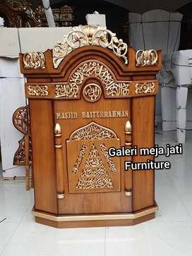 Mimbar masjid karawang ukir B19 talk