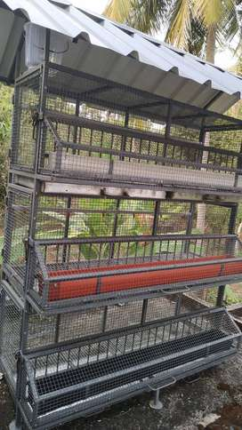 Galvanised steel Poultry cage