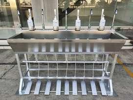 Wastafel Portable Injak Type I Dengan 4 tempat sabun, 5 cuci tangan