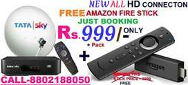 ALL AIRTEL DishTv D2H( TaTa Sky DTH NEW HD CONNECTION FIRE STICK FREE)