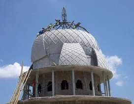 Kubah masjid GRC cetak dan krawangan GRC masjid