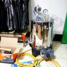 Setrika Uap Boiler Gas Garansi 2th Gresik Lamongan Kirim Pasang Cod