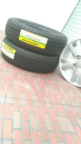 2 ban tubeless Dunlop ukuran 175/65 ring 14