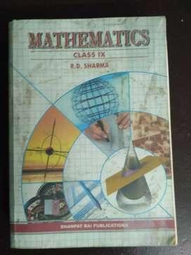 MATH Book for 9th class R.D. SHARMA