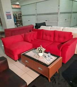 Sofa L harga cuci gudang