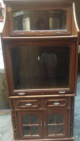 Wooden with glass  TV Trolley