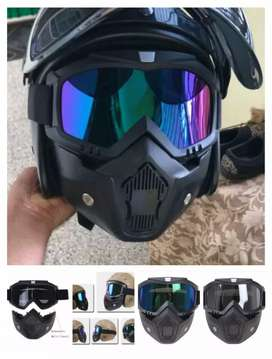 Gogle mask google mask masker helm half full face topeng anonymous