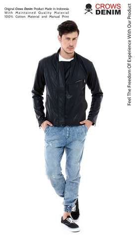 Black Hunter Leather Jaket, Jaket Korean, Jaket Kekinian, Jaket Murah