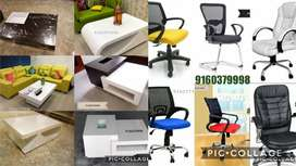 Center tables cash counters office tables chairs workstations