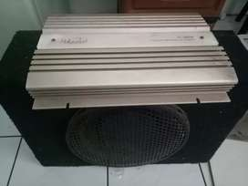 Di jual subwoofeer & power 4 chanel merk hollywood