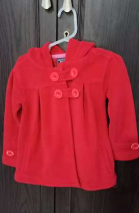 Max Red Overcoat Jacket with hoodie in a good condition