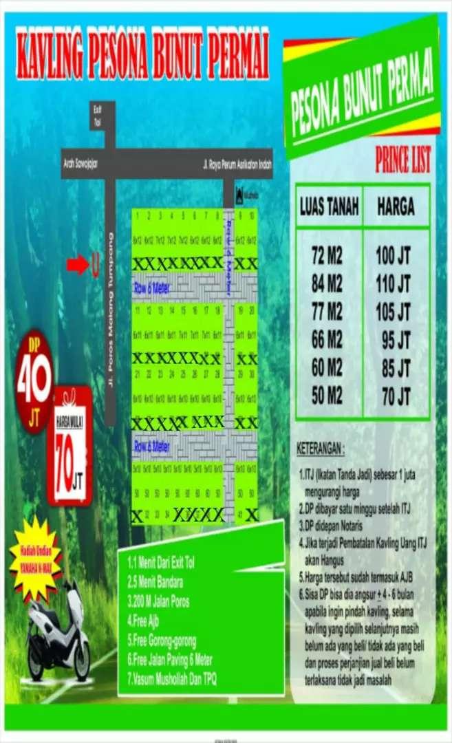 Tanah kavling murah siap bangun terlaris di Kota Malang 0