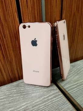 Case Iphone Glass Candy Colors Backcase Glass Berwarna iphone 6 plus