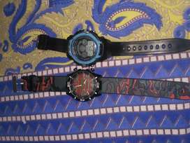2 watches of good condition, single piece available too