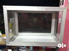 Glass box for displaying food items other items , etc.
