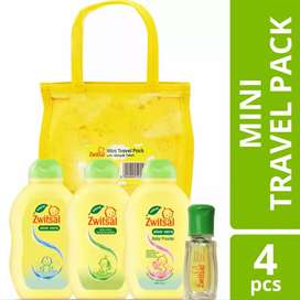 Zwitsal Travel Pack Mini Baby Bath & Baby Hair lotion