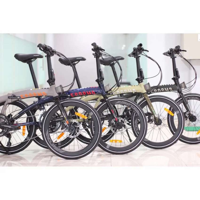 Sepeda Lipat 20 Element Ecosmo Z8 451 Alloy Hidrolik 2x8sp Murah New