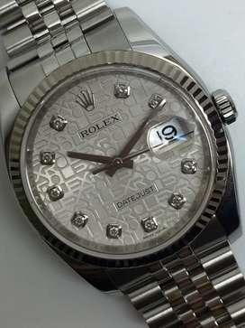 Rolex Men SS Datejust Computer Diamonds watch