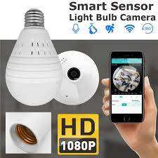 Bulb With WiFi Live Video Audio Recording Full HD 360 Degree Camera