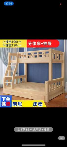 Tempat tidur anak 2 tingkat import