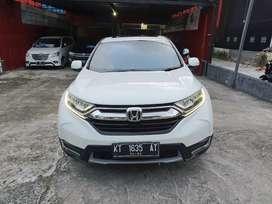 Honda CRV 1,5 Turbo Prestige CVT tahun 2018 putih orchid mutiara