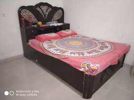 King size Double Bed with Mattress&Storage.Brown