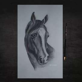 Horse portrait frame