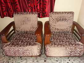 3 piece Sofa set made of teak wood(segun)with 2 covers