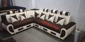 Brown n goldan color design sofa brand new