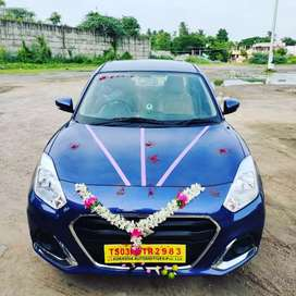 Car for rent and self drive new dzire not for sale