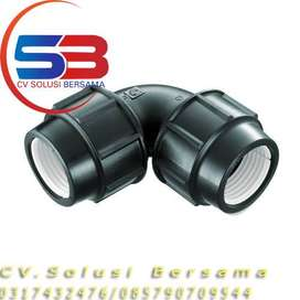 Fitting Compression HDPE Equal Elbow Baru