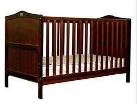 Me and mom Baby wooden crib with side protector  cum junior cot