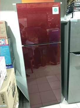 Kulkas Sharp 2 pintu Red