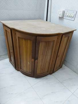 Wooden Corner Table -office and home