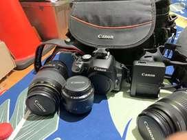 Canon 500d lensa fix canon , lensa macrolens, lensa 55-250mm