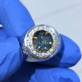 Natural Blue Sapphire 2.68 Ct Certified Noheated