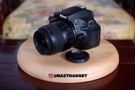 Nikon D5100 Kit 18-55mm Layar Flip Mulus