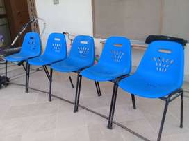 Five Plastic Chairs for Just 3900 Rs.