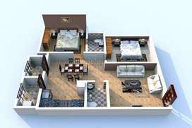 Good Flat with plushfull ventilation and near by all amenities
