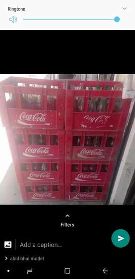 coke Empty bottles availbe crate