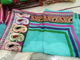 White, Green, And Pink Textile