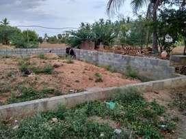 West facing plot with foundation in Karasamangalam .