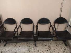 Attached chair for office , hospital