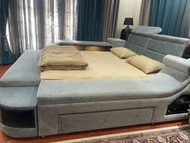 Double bed european style with led