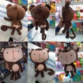 Boneka binatang tokoh kartun si monyet monchhichi buntut panjang SNI